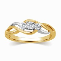 Gorgeous Infinity Ring Diamond Ring 0.25 Carat Round Cut