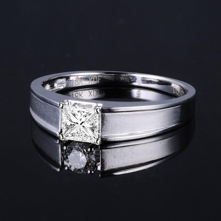 33 Carat Princess cut Diamond Mens Diamond Wedding Band