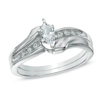 Gorgeous Marquise Diamond Bridal Set Half Carat Marquise ...