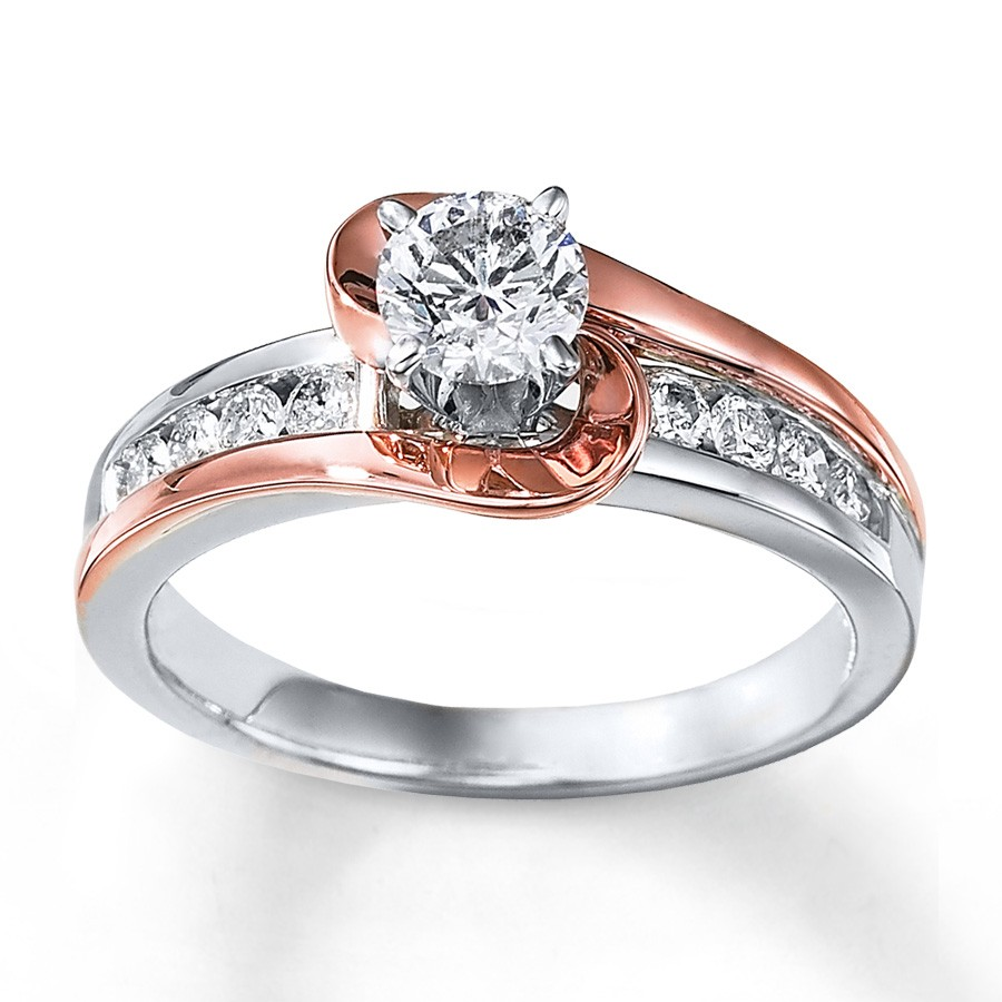 Rose Gold Engagement Rings: Rose Gold Engagement Rings For