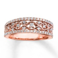 Rose Gold Ring: Rose Gold Ring Band Diamond Ring