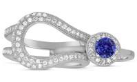 Unique and Luxurious, 2 Carat Designer Sapphire and ...