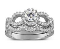 2 Carat Round Infinity Wedding Ring Set in White Gold ...