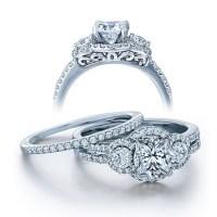 GIA Certified 2 Carat Princess cut Diamond Vintage Wedding ...