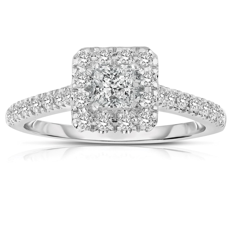 White Gold Princess Cut Diamond Engagement Rings
