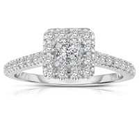 White Gold Princess Cut Diamond Engagement Rings