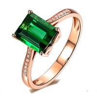 Luxurious 2 carat Green Emerald and Diamond Classic ...
