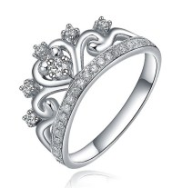 Unique Princess Crown Half Carat Diamond Engagement Ring ...