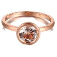 1 Carat Bezel set Morganite Solitaire Gemstone Engagement