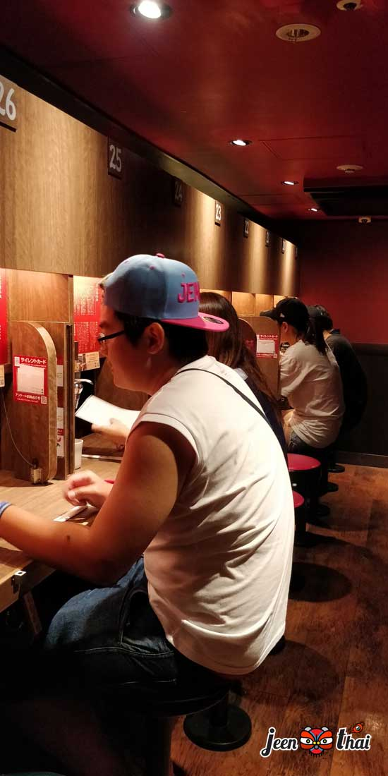 อิจิรันราเมง Ichiran Ramen 一蘭 ราเมงข้อสอบ ที่ Ueno ที่ไม่ควรพลาด