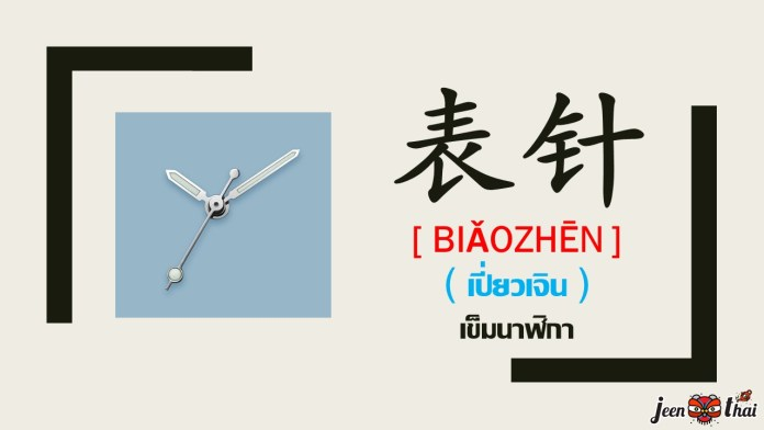 คำศัพท์ภาษาจีน : นาฬิกา