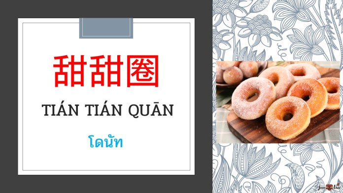 อาหารขยะภาษาจีน