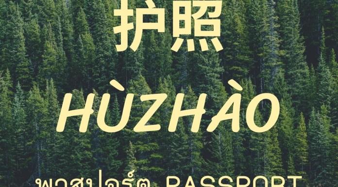 พาสปอร์ตภาษาจีน