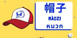 หมวก ภาษาจีน