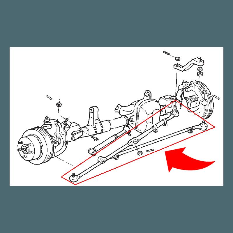 Kit Barre de direction + Barre accouplement Complètes