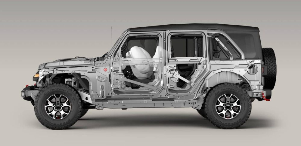 medium resolution of from an advanced front and side airbag system4 to high strength steel beams that improve side impact performance and vehicle stiffness wrangler has your