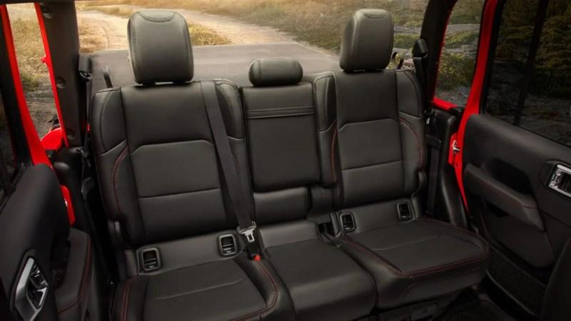 Display Rubicon rear seats