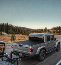 2020 jeep gladiator towing and storage utilities mix grey gladiator towing a boat on a 2 [ 1440 x 900 Pixel ]