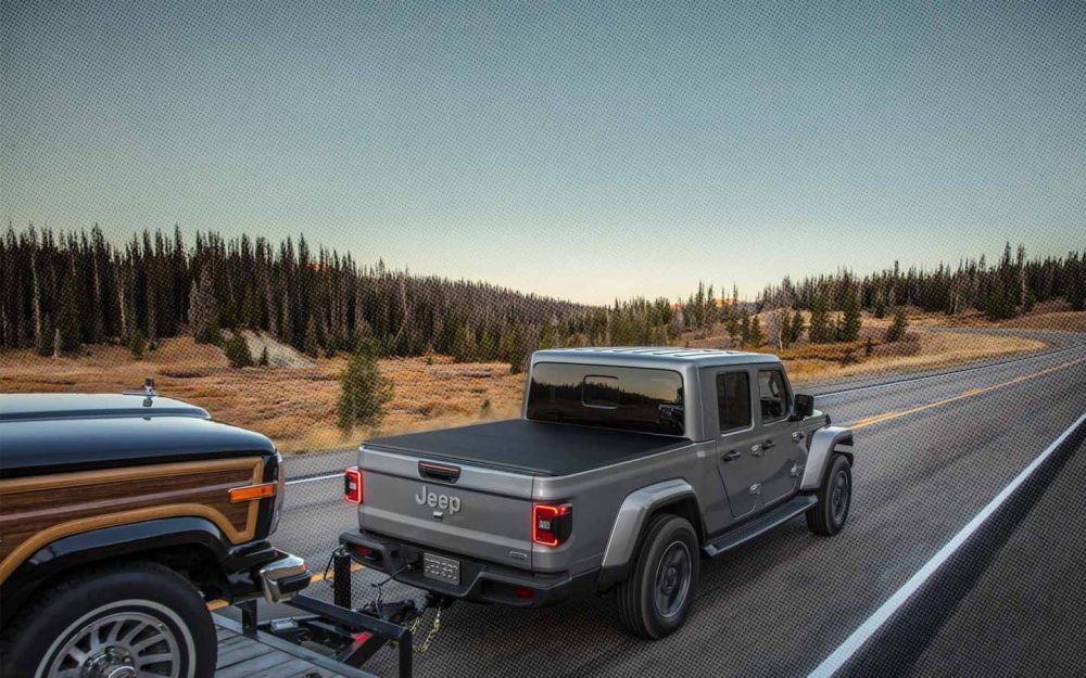 medium resolution of 2020 jeep gladiator towing and storage utilities mix grey gladiator towing a boat on a 2