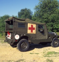 the m 170 frontline ambulance was the military forefather of the cj 6 and [ 2932 x 2005 Pixel ]