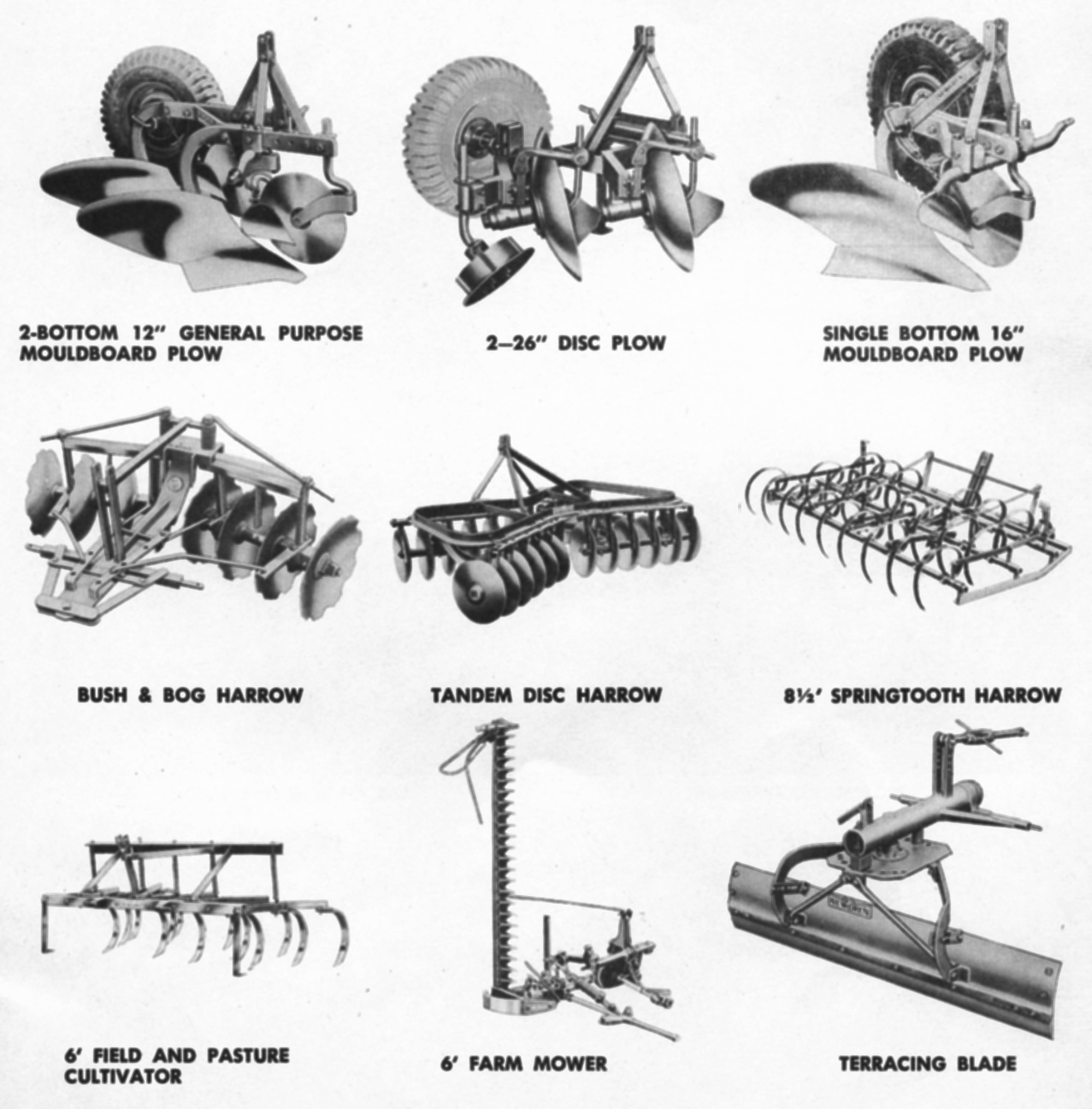 hight resolution of the array of agricultural attachments available for jeep in the 40s was staggering and this represents only a few these are the products authorized by