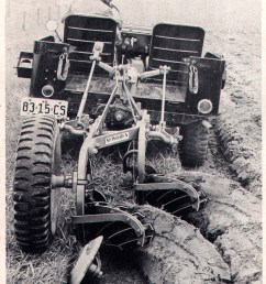 jeep at work a late 40s cj mounting a newgren two bottom plow interestingly it s being used on a monroe hydraulic lift which mounted in the bed of the  [ 1756 x 2250 Pixel ]
