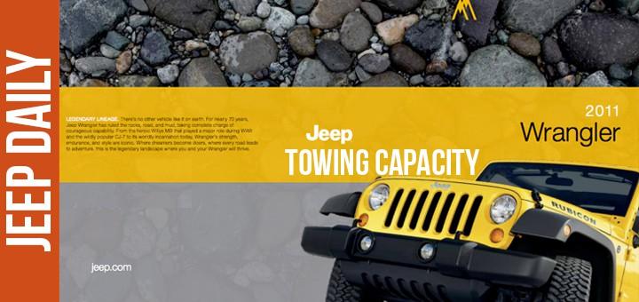 2011 Jeep Wrangler Towing Capacity Specs