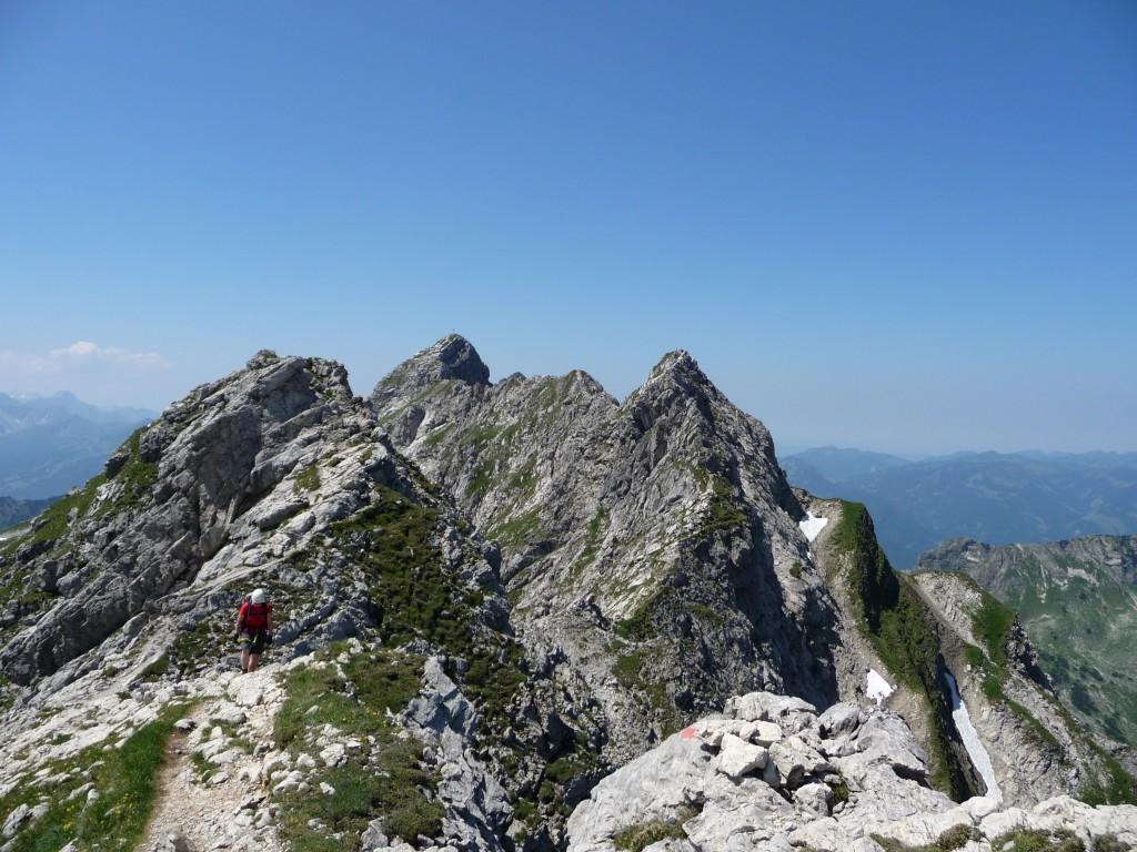 Hindelanger Klettersteig Wengenkopf : Hindelanger klettersteig auf das nebelhorn bei oberstdorf allgäu