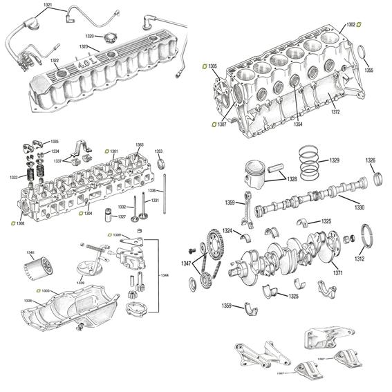 Moteur, 2.5l, 4.0, 4.2l, jeep wrangler YJ