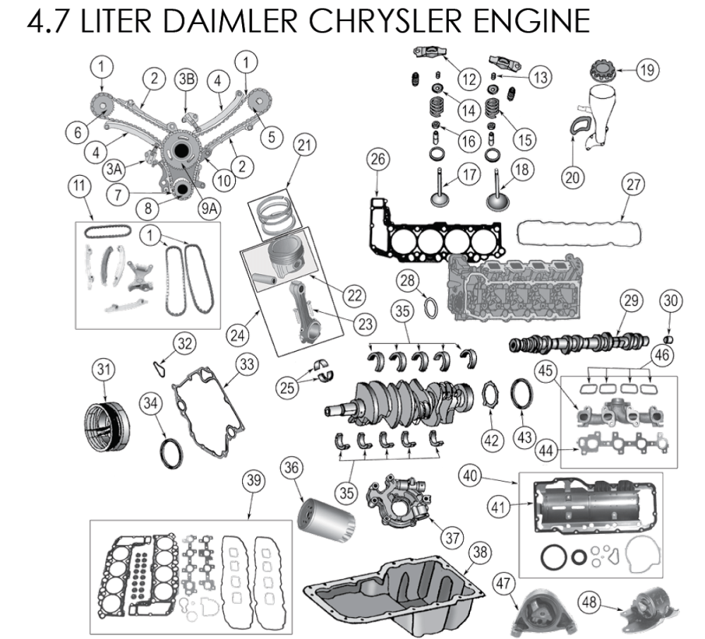 medium resolution of dodge 2 7 liter engine exploded view diagram dodge free