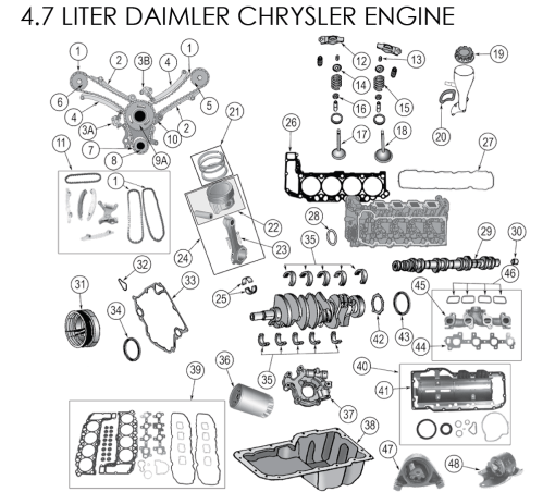 small resolution of dodge 2 7 liter engine exploded view diagram dodge free