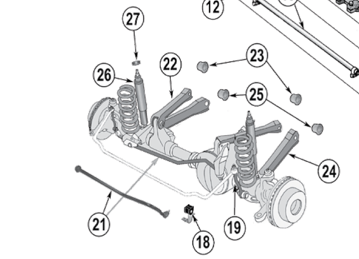 jeep wrangler tj rear suspension diagram