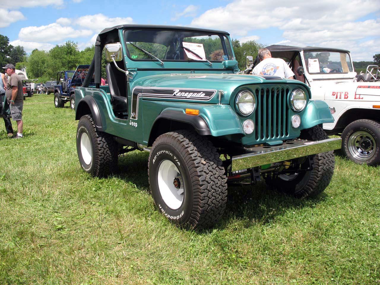 hight resolution of green 1974 cj