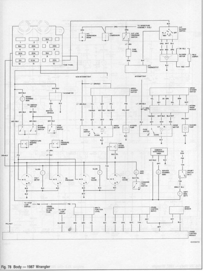 94 Wrangler Alternator Wiring Diagram 87 Yj Gauge Cluster Wiring Diagram Jeepforum Com