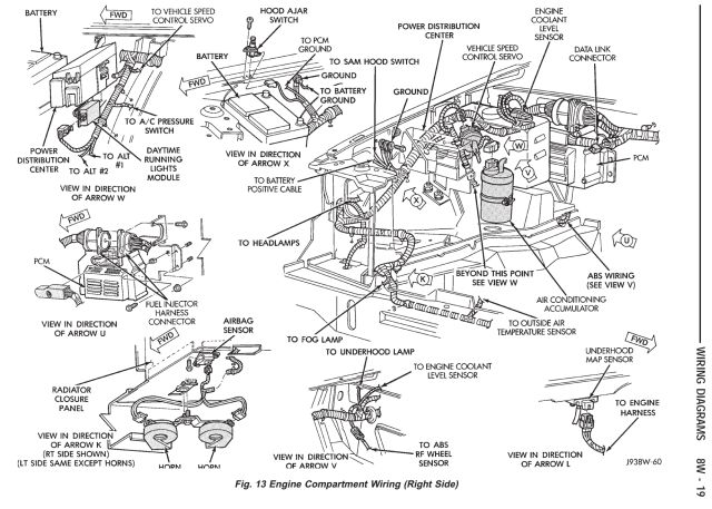 2004 jeep grand cherokee 4.0 engine diagram