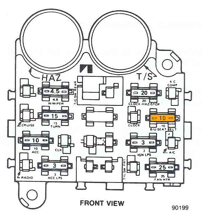 1983 Chevy C10 Fuse Box Diagram : 1990 Ranger Fuse Box 93