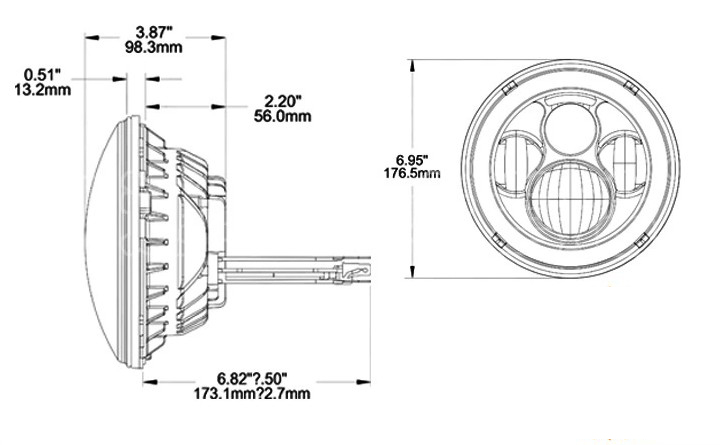 Lifetime LED 7in Round LED Headlight 4-Lens Jeep JK