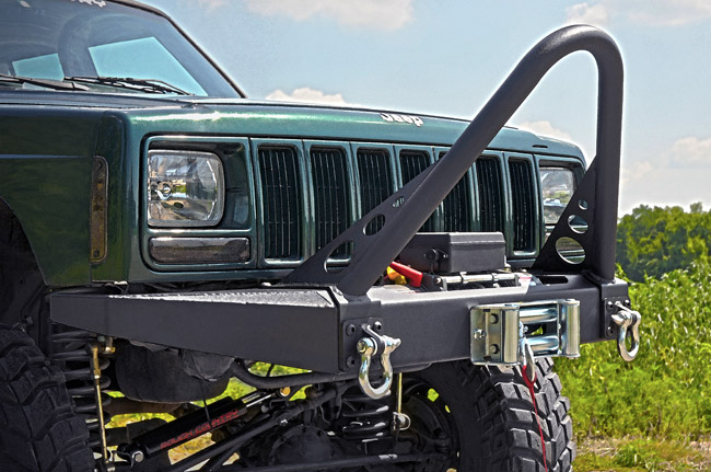 Rough Country Jeep XJ Cherokee Winch Bumper  1057  JeepinOutfitters