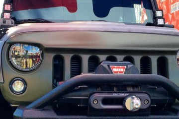 WILD BOAR JEEP JK ANGRY EYES GRILL