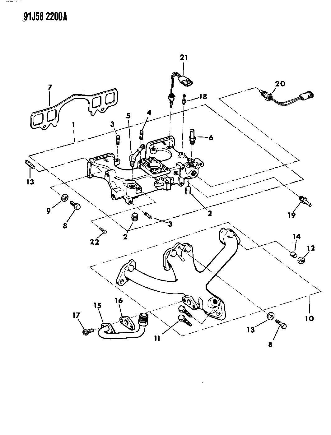 1991 Jeep Cherokee Sensor. Air charge temperature, air