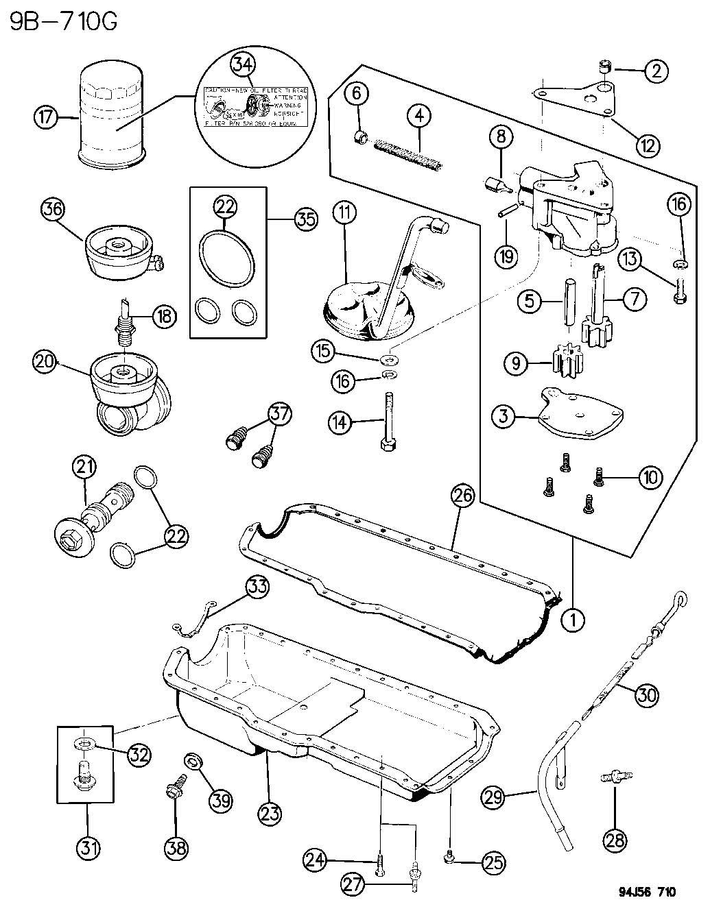 1999 Jeep Cherokee Adapter. Oil filter. Adapter, oil