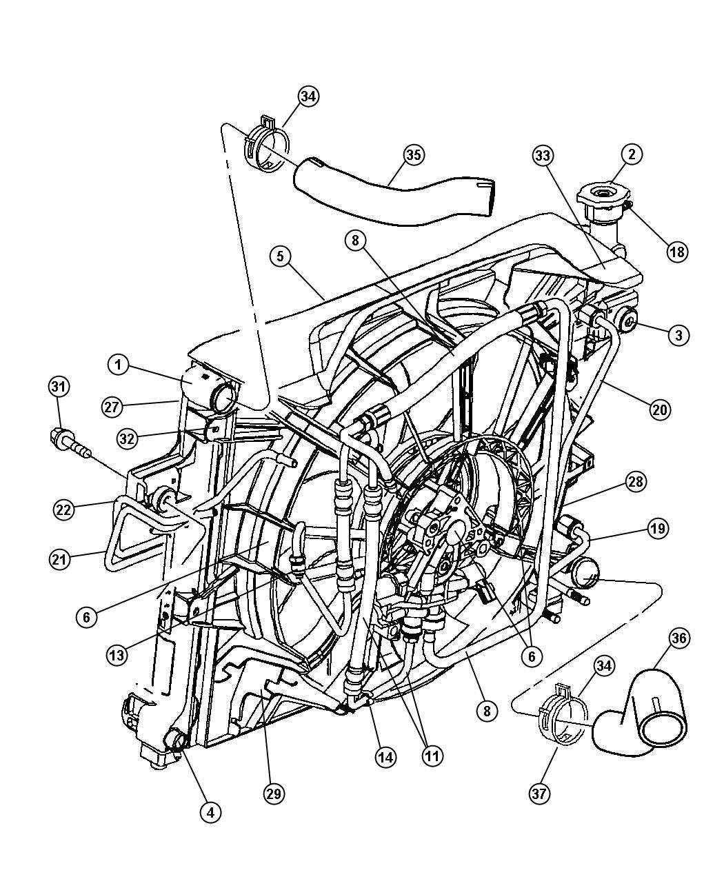 Jeep Grand Cherokee Fan Module Shroud Solenoid