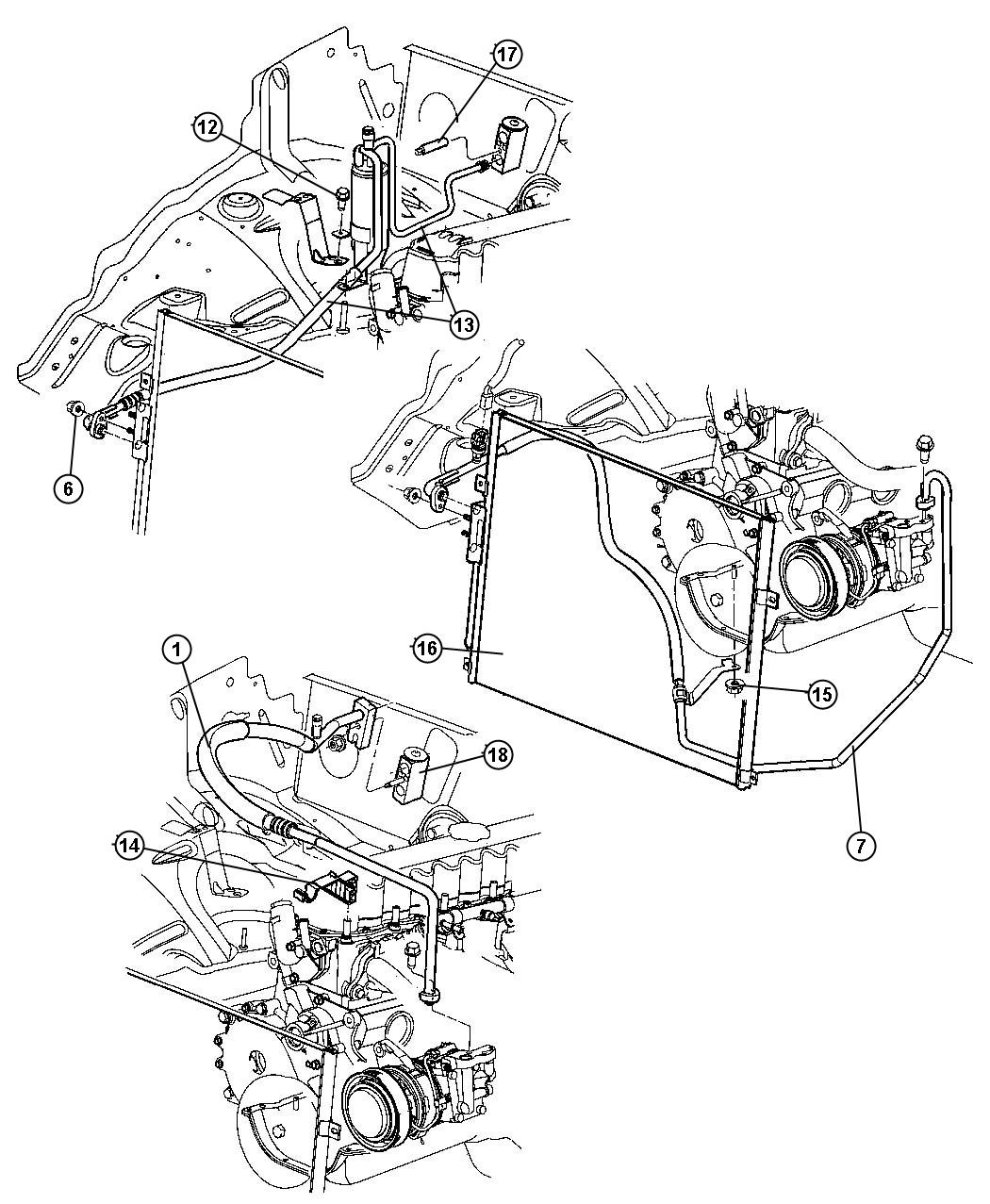 Jeep Grand Cherokee Line A C Suction Air Engine