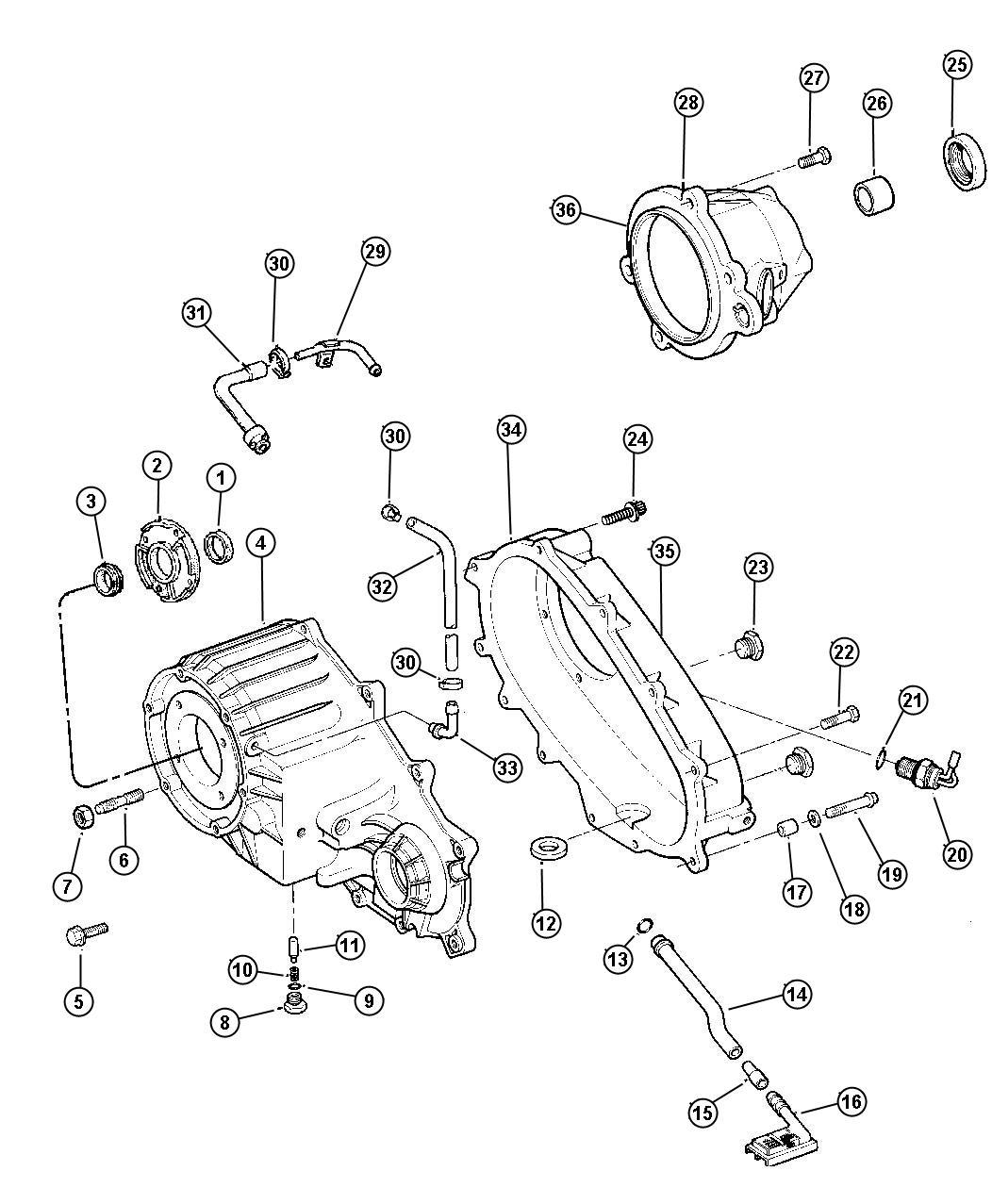 Jeep Grand Cherokee Dowel. Transfer case. Dhc, dhr
