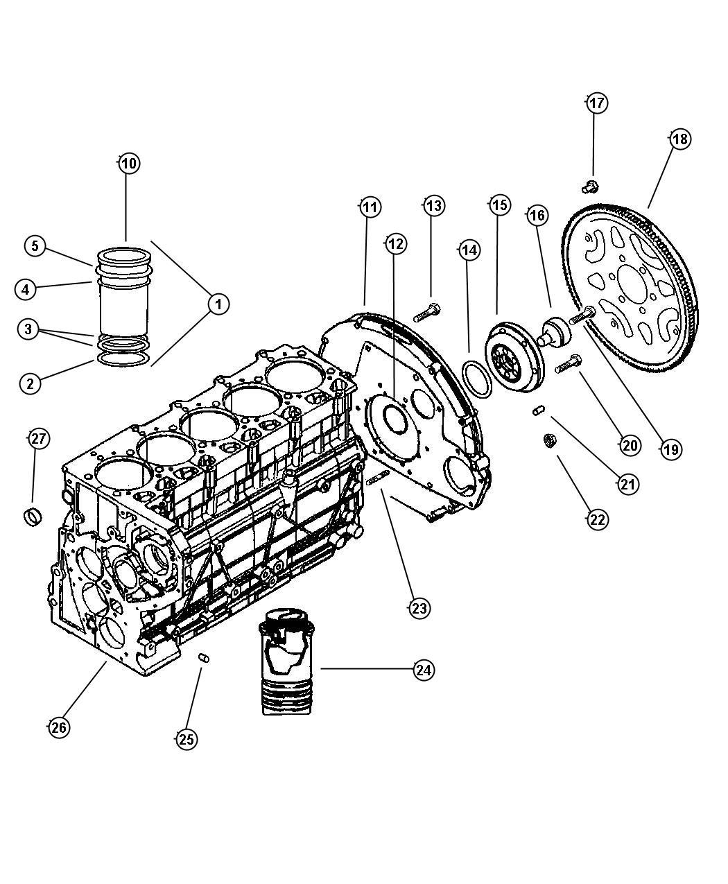 Jeep Grand Cherokee Shim. Cylinder liner. 0.17mm. Enr, enc