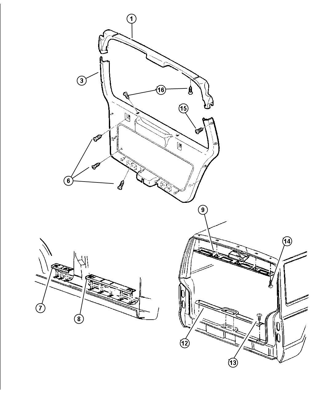 Jeep Grand Cherokee Clip Fastener B Pillar D Pillar Trim Panel Trim Panel Attaching