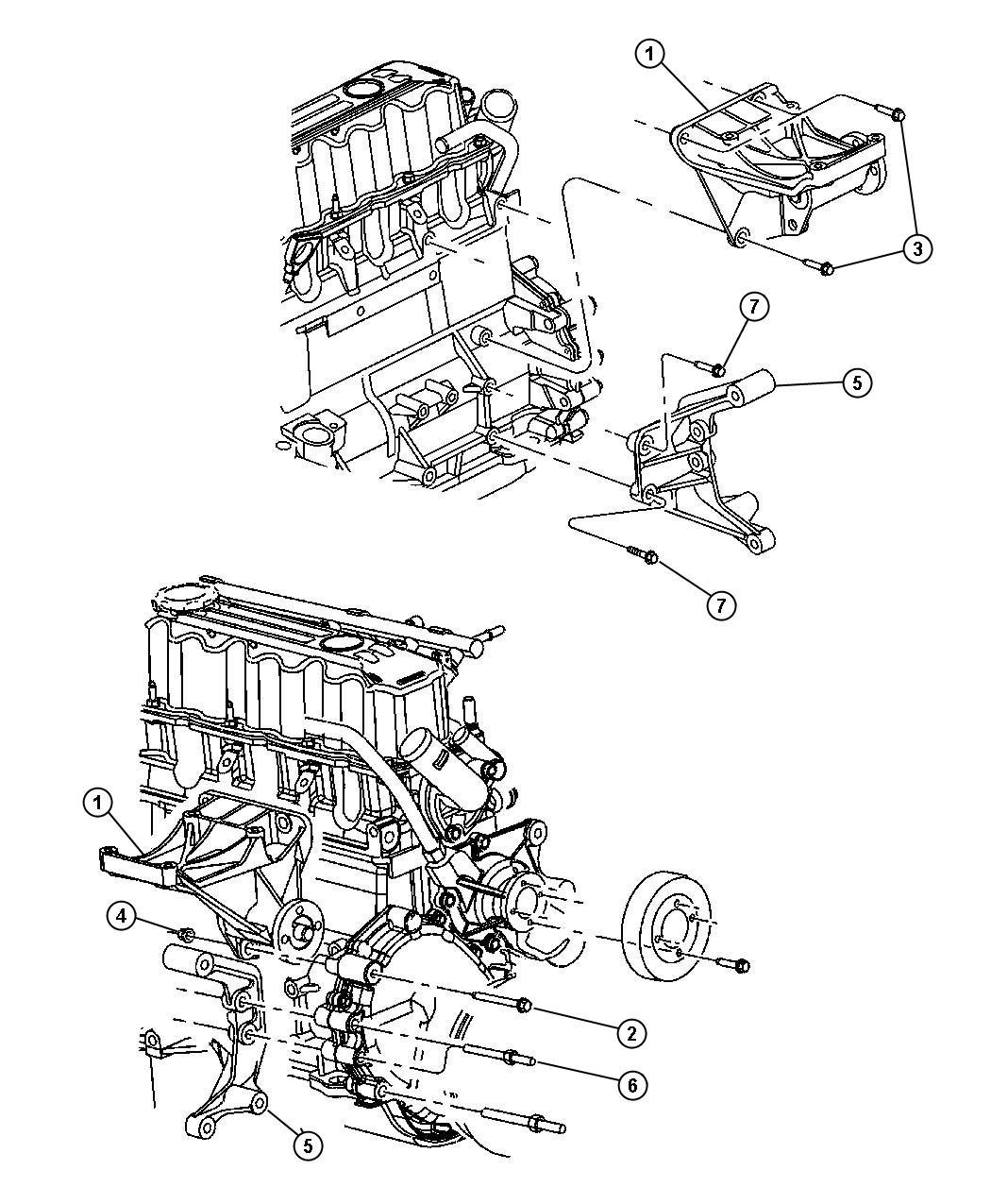 Jeep Wrangler Bracket. A/c compressor. Idler, mounting