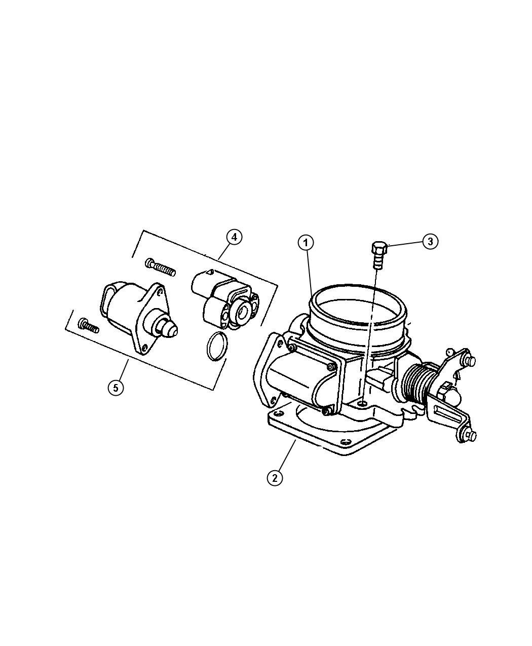 Jeep Liberty Motor A I S Air Idle Speed Throttle Body