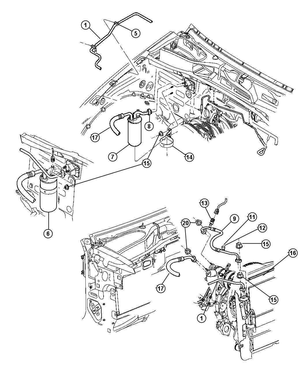Jeep Liberty Transducer, transducer kit. A/c pressure