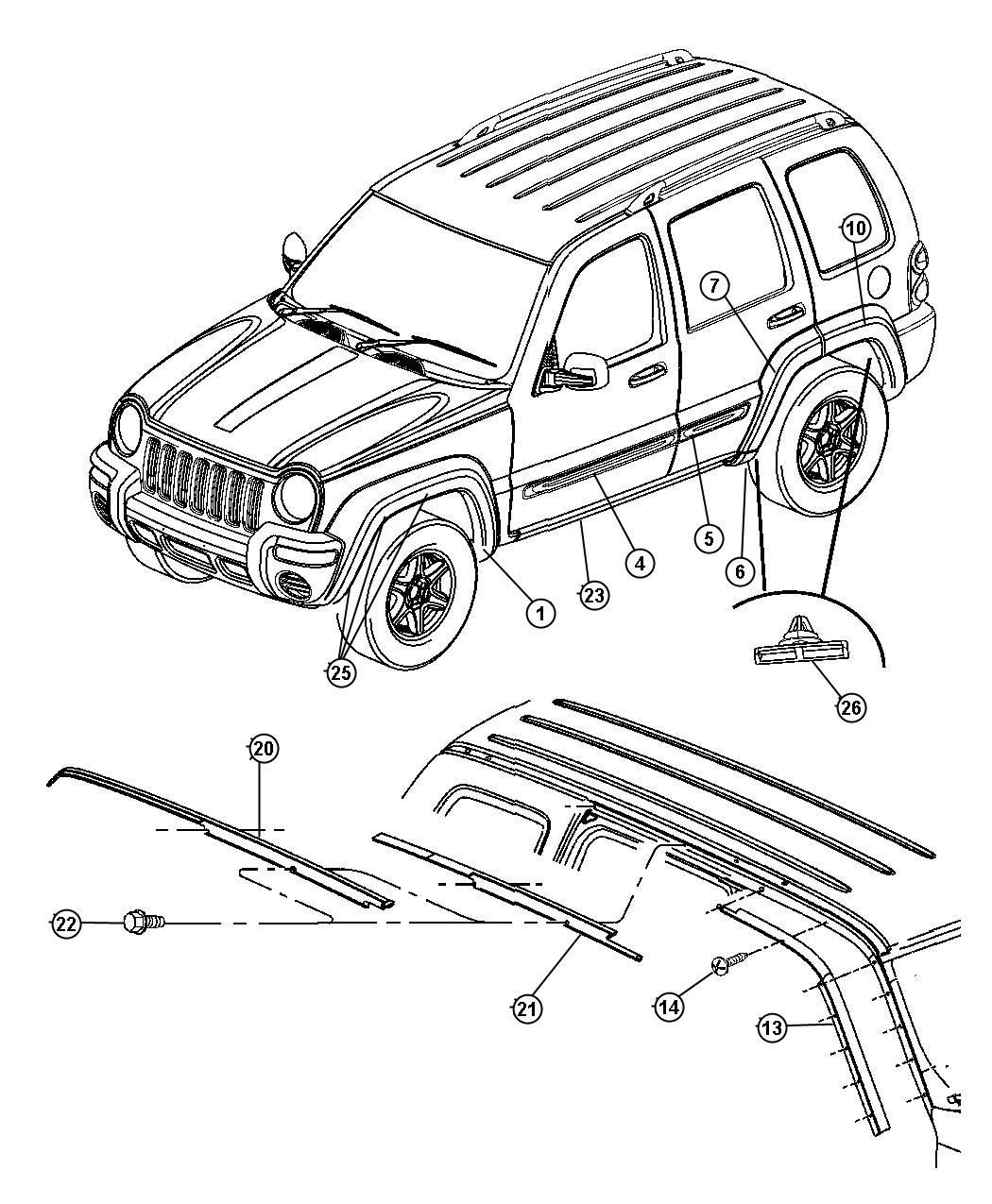Jeep Liberty Molding. Sill cover. Left. Color: [no